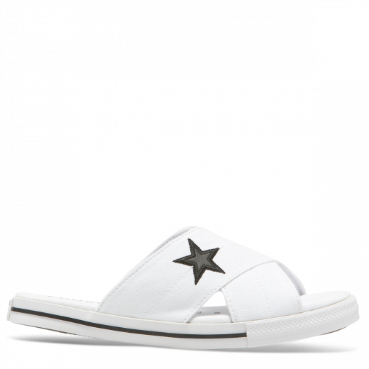 Converse One Star Canvas Sandal White