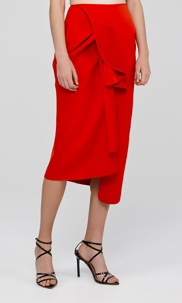 Acler Crawford Skirt Tangerine Red