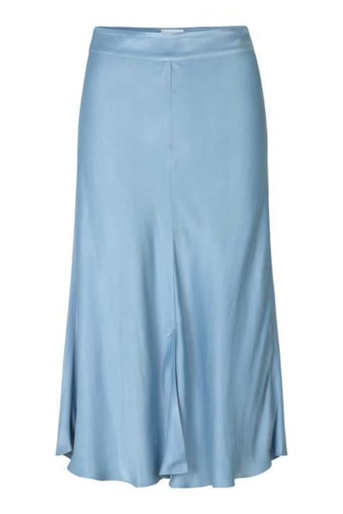 Second Female Eddy New Midi Skirt Faded Denim