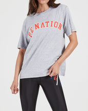 P.E Nation Squad Shot Tee Grey Mid