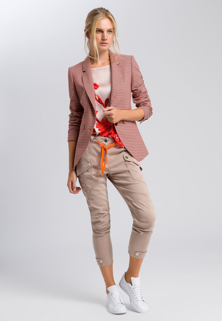 Marc Aurel Check Blazer Hot Orange