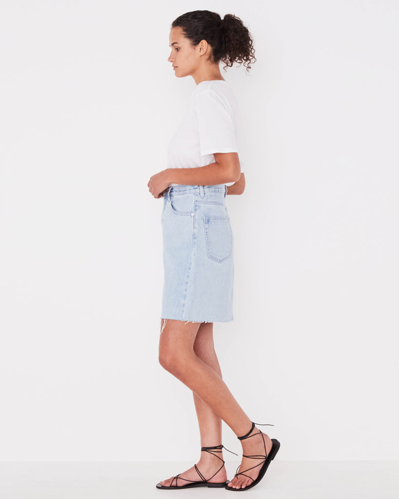 Assembly Label Rigid Fray Skirt Pacific Blue
