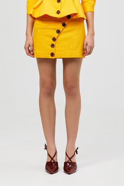 Acler Golding Denim Skirt Marigold