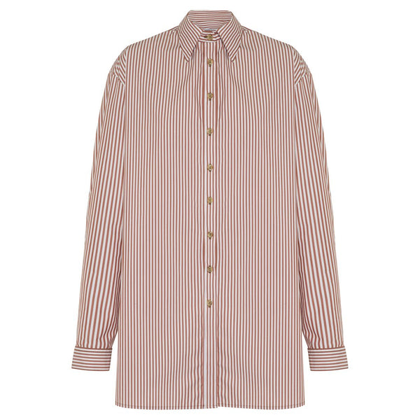 Anna Quan Alfie Shirt Brown Stripe