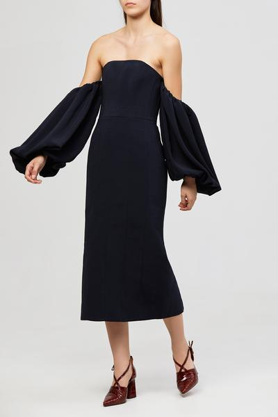 Acler Tynon Dress Navy Blue