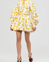 Acler Lella Dress White Marigold