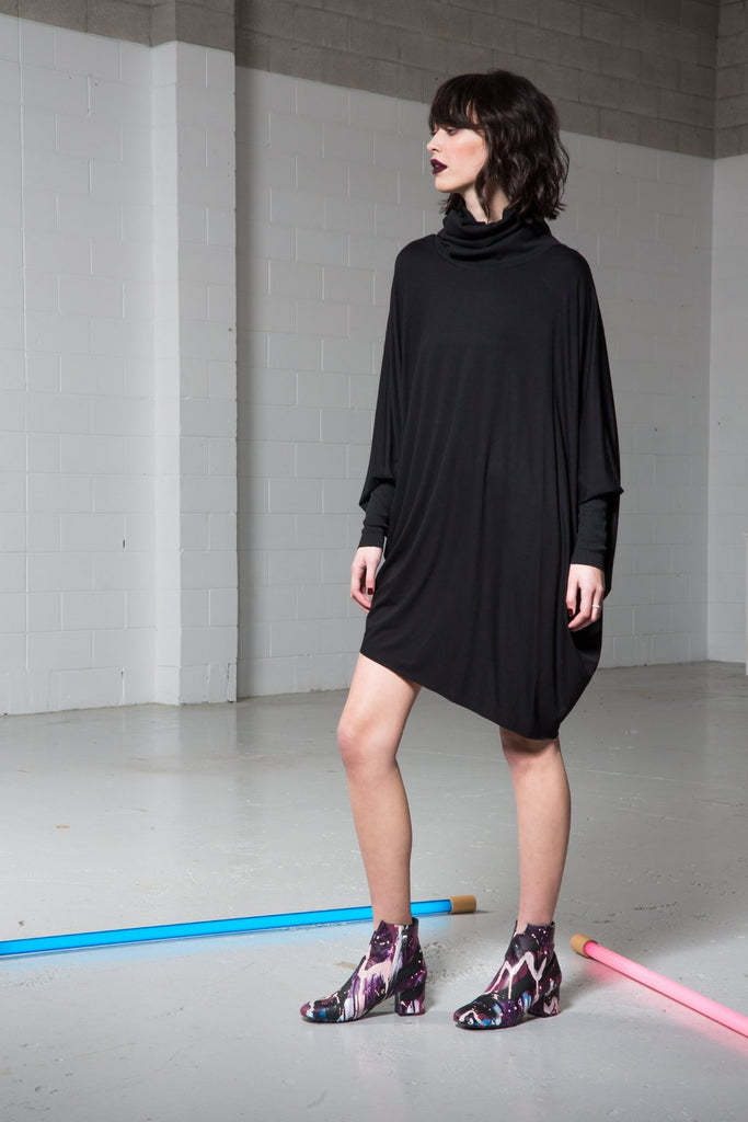 Maaike Arrange Dress Black