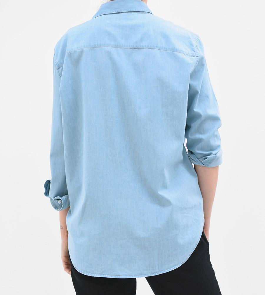 Assembly Label Xander Long Sleeve Shirt Denim Chambray