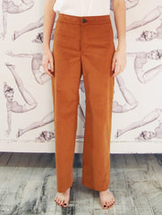 Astrid & Cyril / One Button Pants / Copper Corduroy