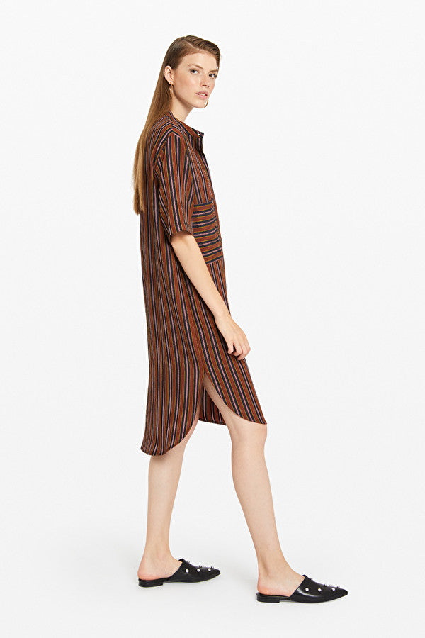 ottod'Ame Midi Dress with Rounded Bottom Var Unica