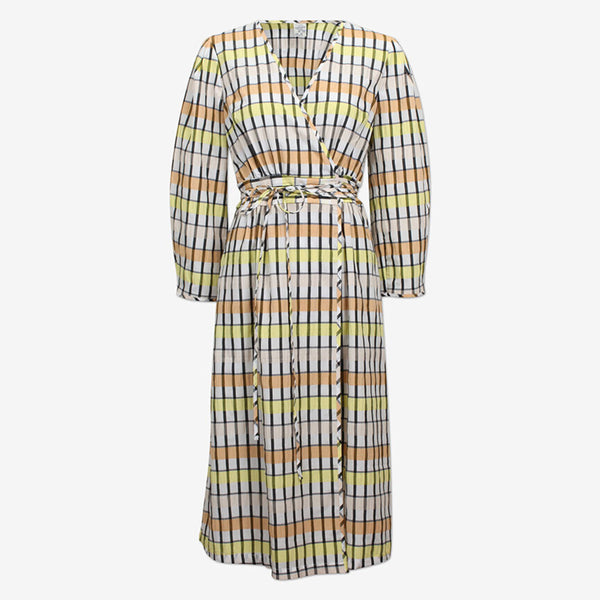 Baum und Pferdgarten Abylene Dress in Peach Yellow Black Check