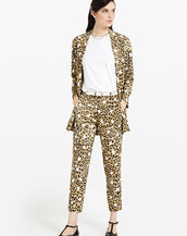 ottod'Ame Viscose Blazer with Animalier & Pois Print Bianco Dots