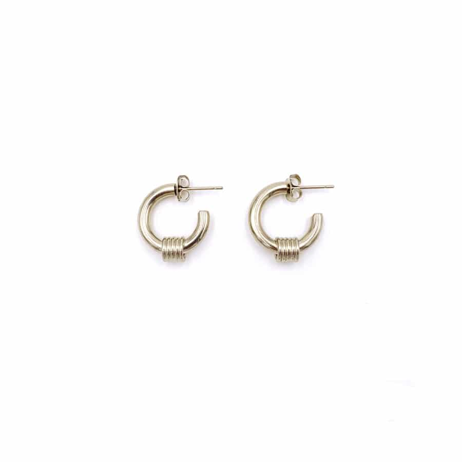 Justine Clenquet Carrie Earrings Pale Gold