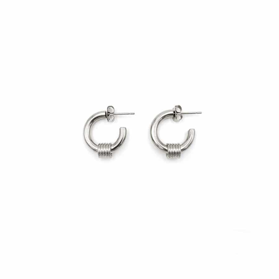 Justine Clenquet Carrie Earrings Palladium