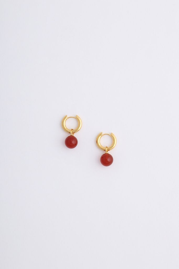 Miro Miro Aura Earring Gold/Orange Onyx