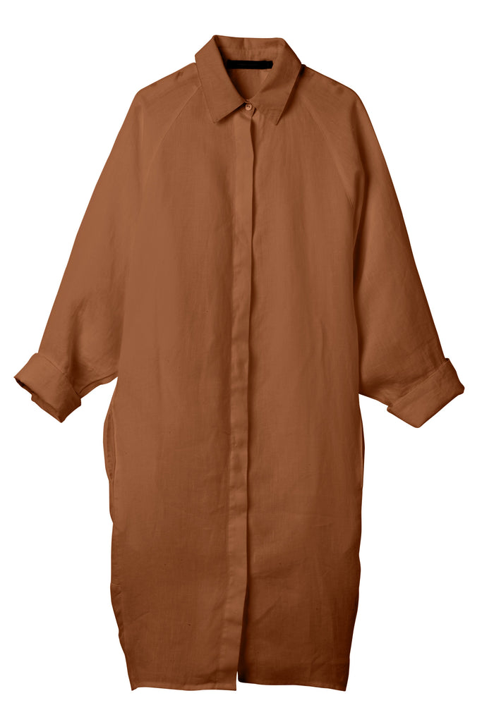 Andrea & Joen Evie Shirt Dress Tobacco