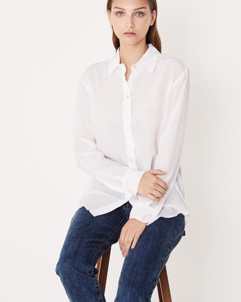 Assembly Label Essential Silk Shirt White