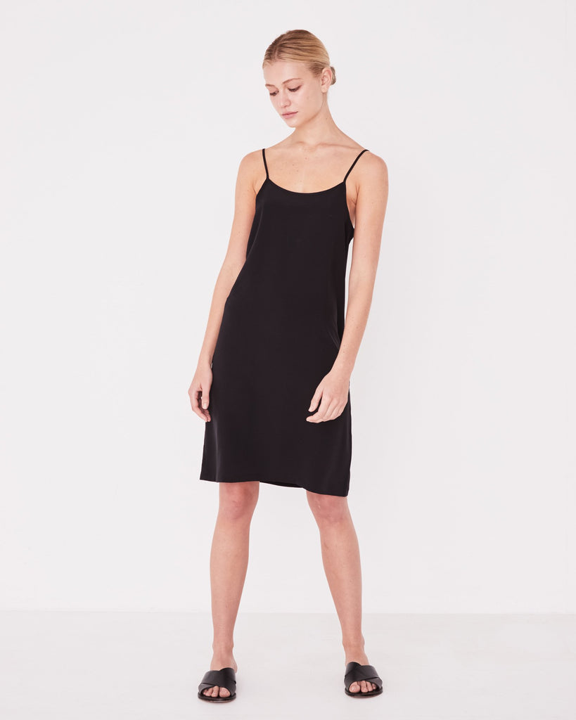 Assembly Label Malene Silk Dress Black
