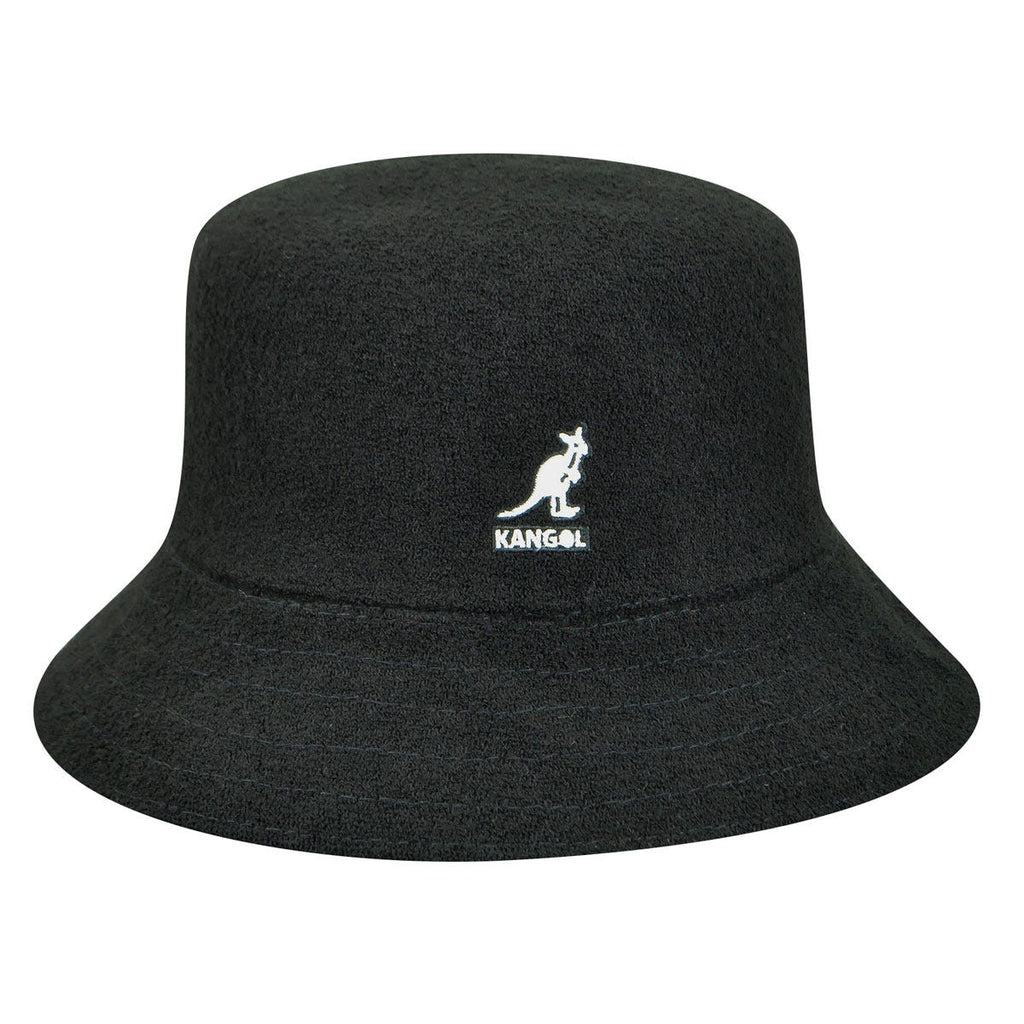Kangol Bermuda Bucket Black with White Logo