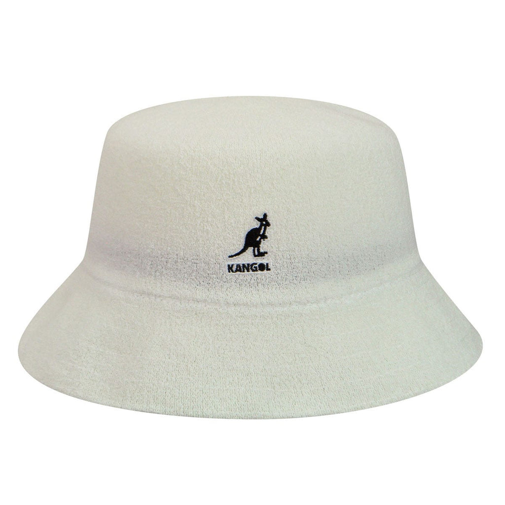 Kangol Bermuda Bucket White with Black Logo