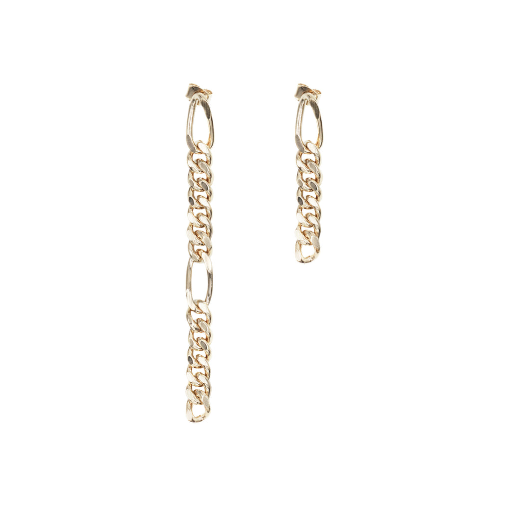 Justine Clenquet Kim Earrings Pale Gold