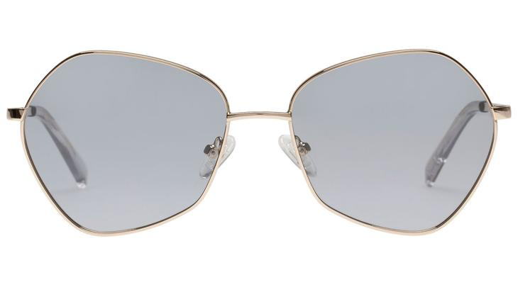 Le Specs Escadrille Sunglasses Gold Grey