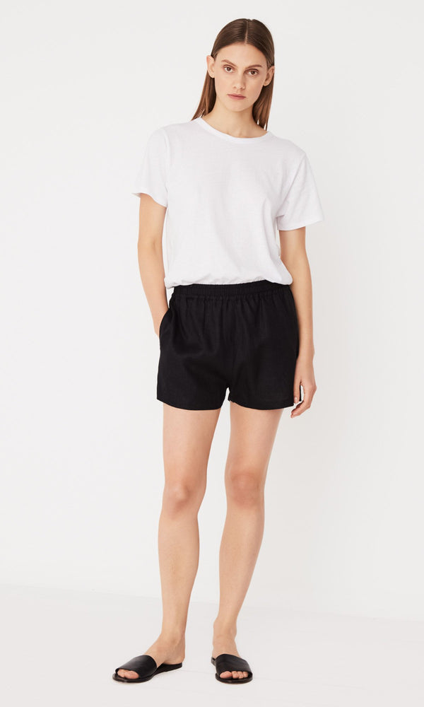 Assembly Label Basis Linen Short Black