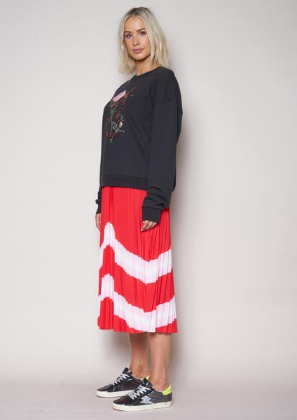The Others The Sunray Skirt Red Pink White