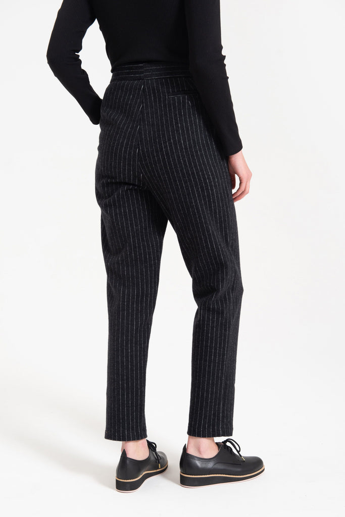 Kuwaii Seasonal Tailored Pant Charcoal Pinstripe