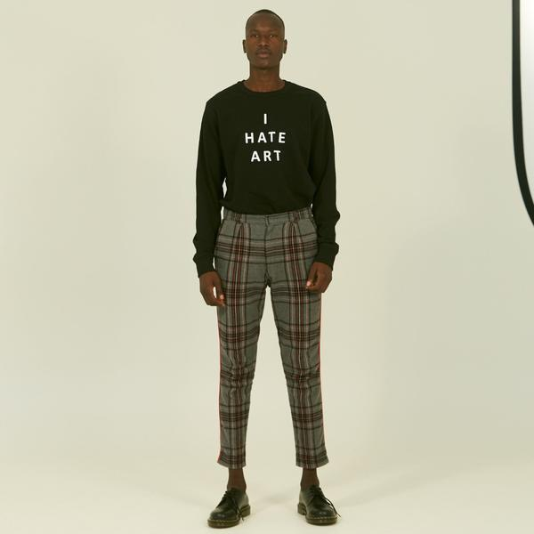 Premium Trash I Hate Art Sweater Black