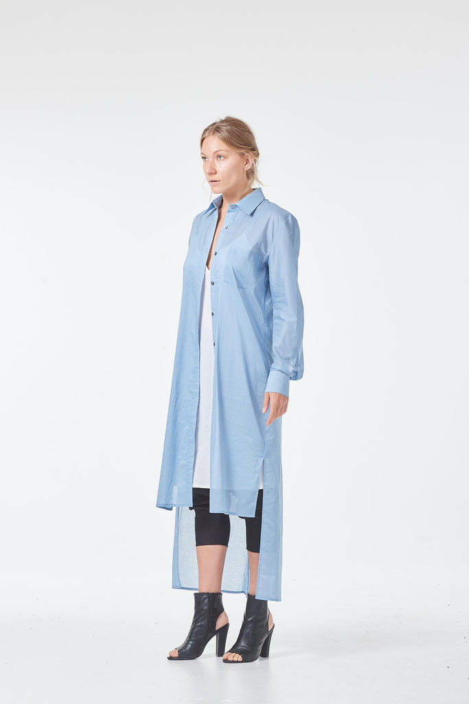 Hoodedwept / Norsk Shirt Dress / Powder Blue