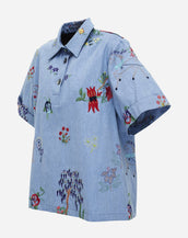 Romance Was Born Seaside Shirt Sky Blue Multi