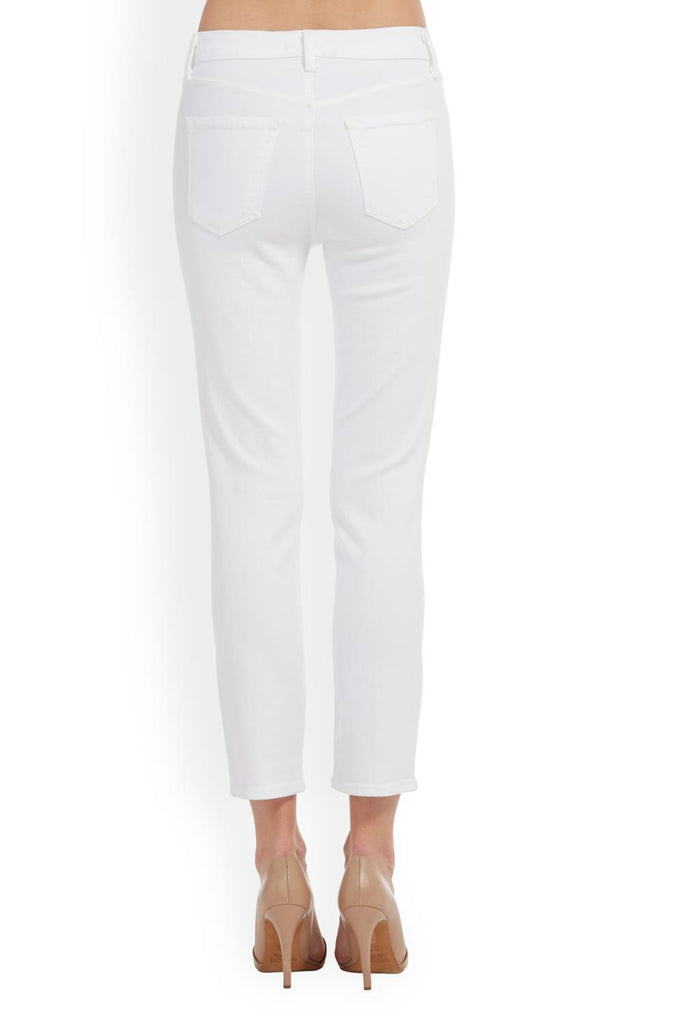 J Brand / Ruby High Rise Cigarette Cropped / Blanc