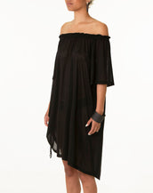 Hoodedwept Collette Drawstring Dress Black