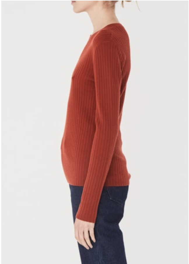 Assembly Label Rib Long Sleeve Tee in Sienna