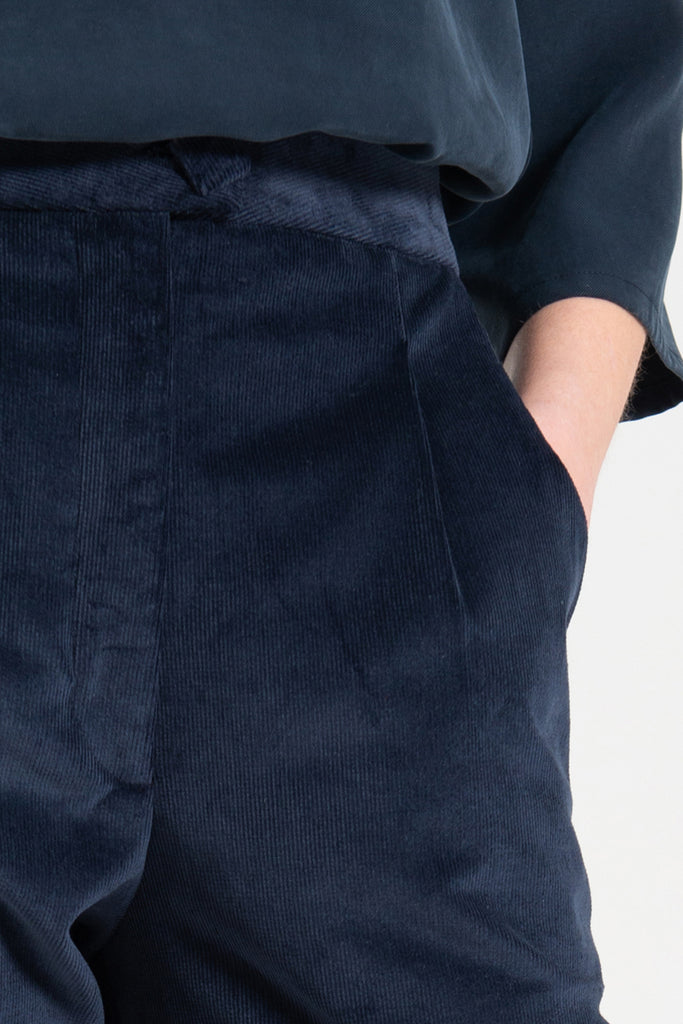Kuwaii Seasonal Tailored Pant Ink Navy Cord