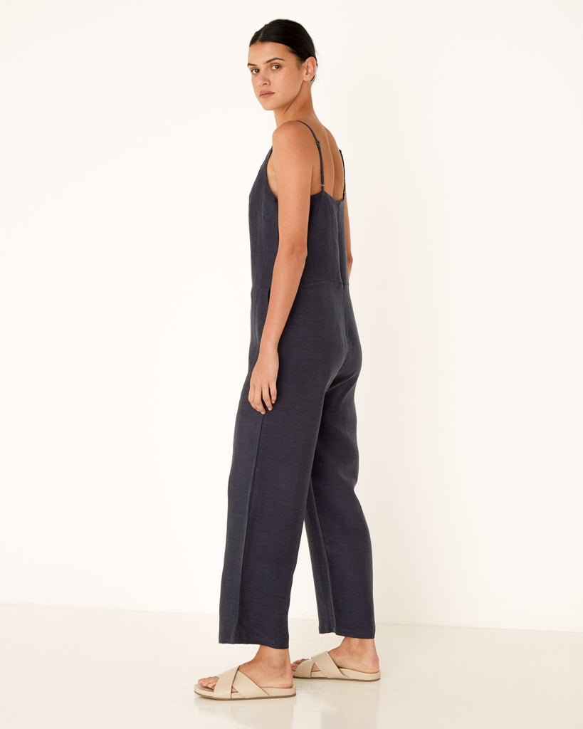 Assembly Label Wide Leg Jumpsuit Worn Navy