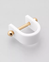 Aana Janakis Alpha Single Ring White/Gold
