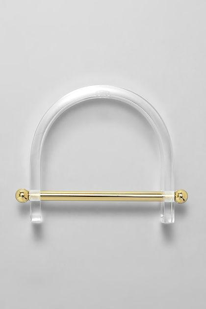 Aana Jankis Alpha Bangle Clear/Gold