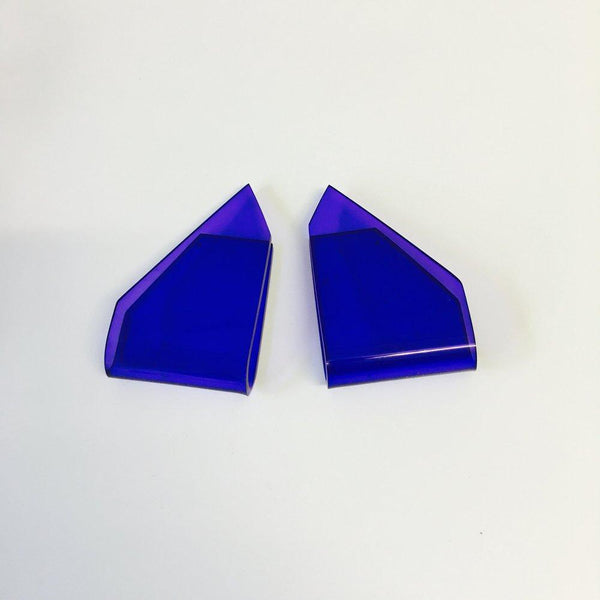Alexandra Blak Lone Wolf Earrings Blue Violet