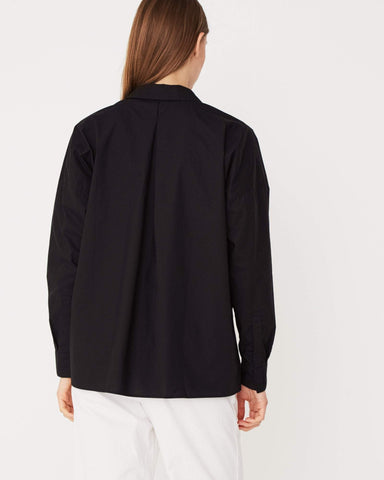 Assembly Label Cotton Voile Long Sleeve Shirt Black