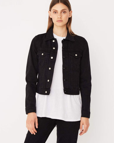Assembly Label / Femme Denim Jacket / Worn Black
