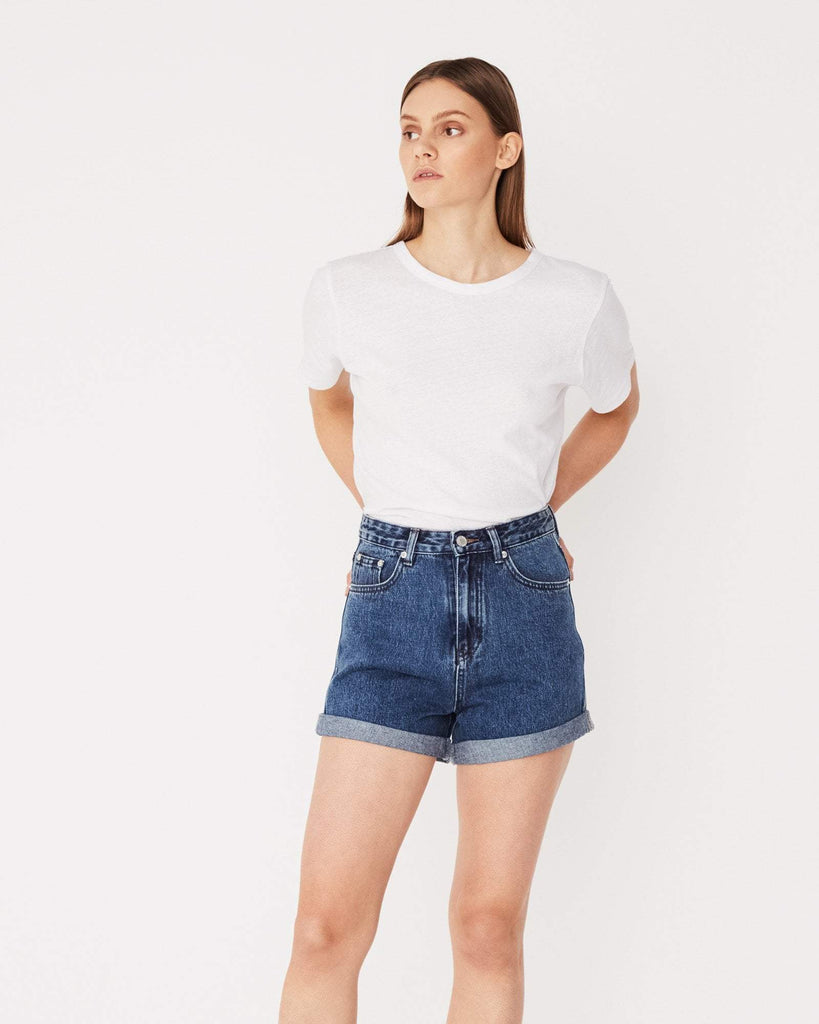 Assembly Label Rolled Hem Shorts Mid Blue