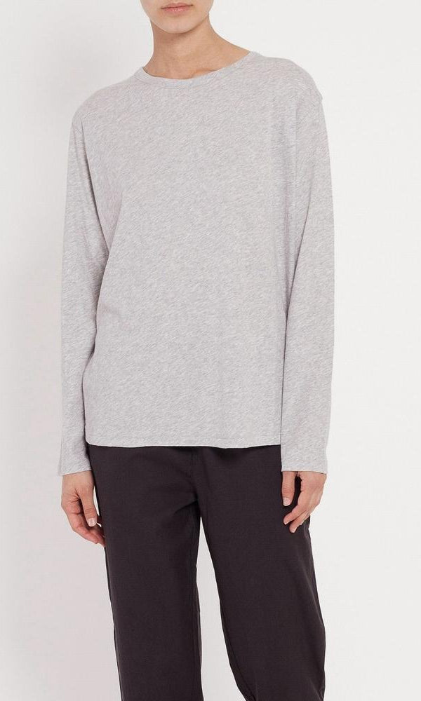 Assembly Label Bay Long Sleeve Tee in Grey Marle