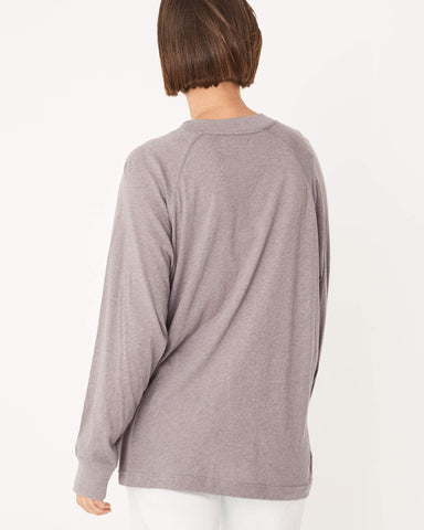 Assembly Label / Oversized Long Sleeve Tee / Stone Marle