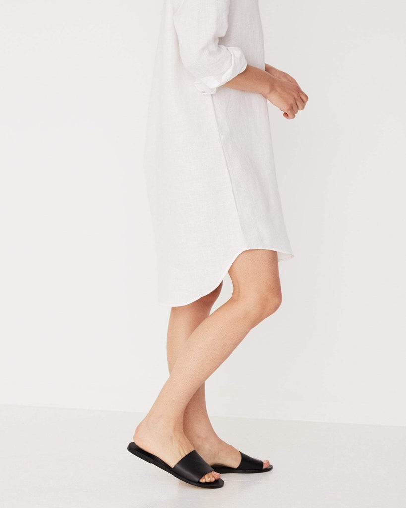 Assembly Label Xander Linen Shirt Dress White