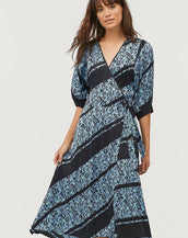 Second Female Break Wrap Dress Little Boy Blue
