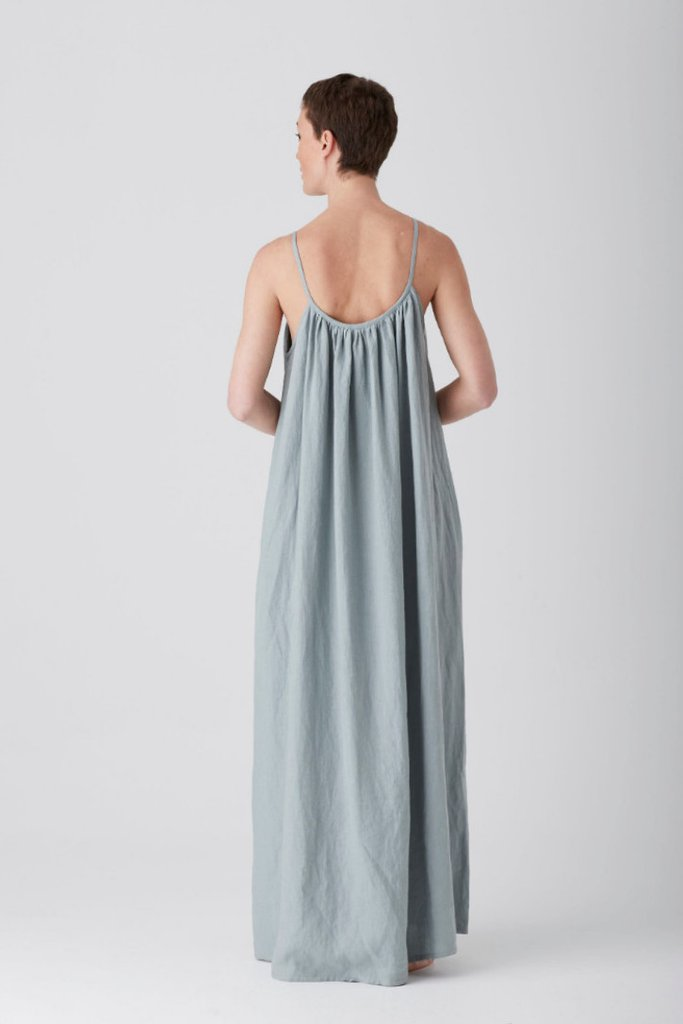 Andrea & Joen Iris Gathered Maxi Dress Sage