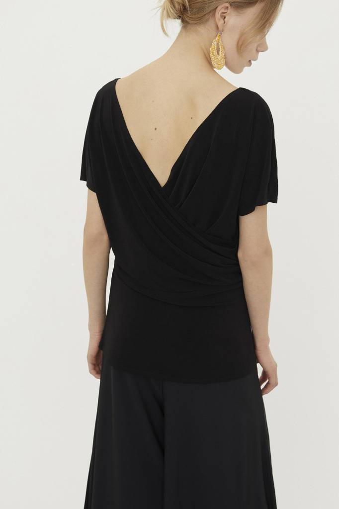 By Malene Birger Crossover Top Black
