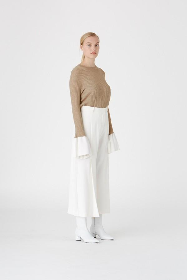 Camilla and Marc Valerie Wide Leg Trouser Ivory